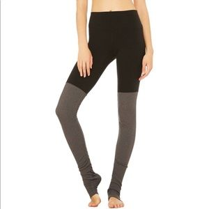 Alo Yoga High Waist Goddess Legging Black Stormy